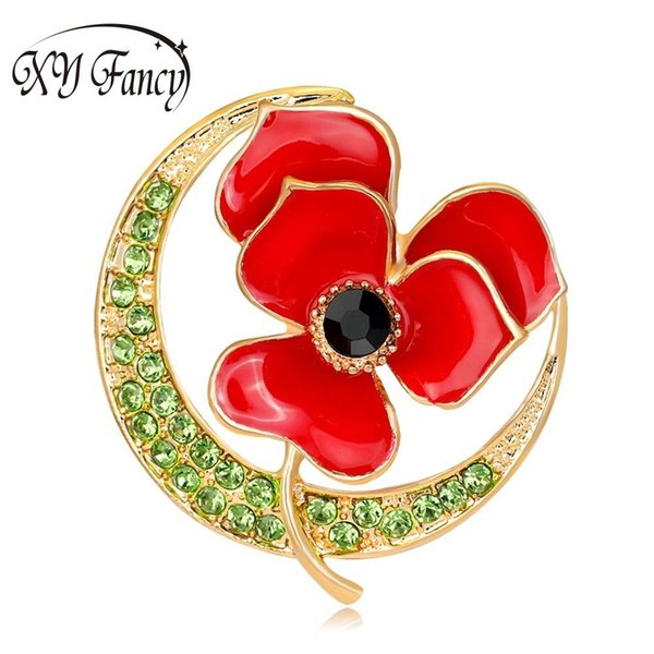DreamBell high quality durable alloy Brooch Women Elegant Jewelry Refined Brooches All-match Flower Shape Breast