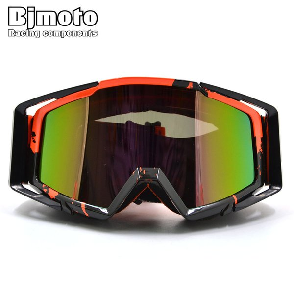 BJMOTO Motocycle Sunglass Goggle Protective Gears Flexible Glasses Motocross MX Tinted UV Goggles For Dirt Bikes Off Road