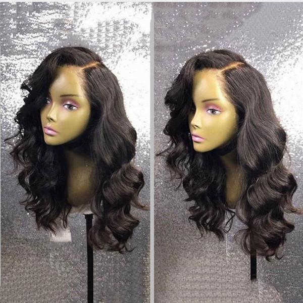 Big Body Wave Human Hair Wigs Bleached Knots Full Lace Wigs Brazilian Malaysian Medium Size Side Part Swiss Lace Cap Lace Front Wigs