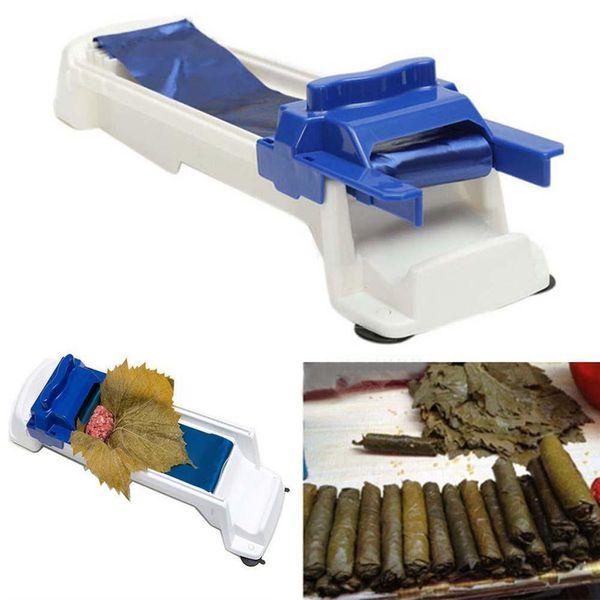SuShi Maker Newest DIY Sushi Roller Cutter New Vegetable Meat Rolling Tool Dolmer Magic Roller Stuffed Garpe Cabbage Leave Grape Leaf Machin