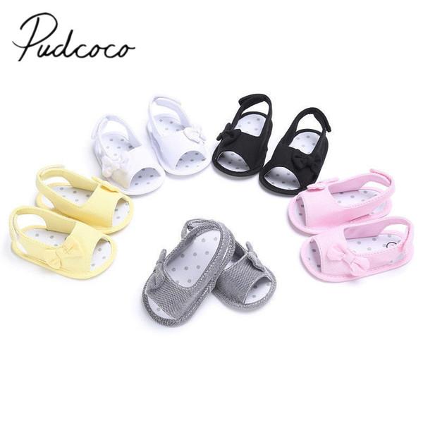 c607ec20f 2018 Brand New Newborn Toddler Baby Infant Shoe Kids Girl Boys Summer Soft  Sole Bow Sandal