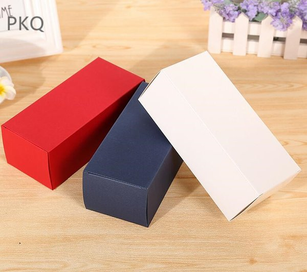 30pcs Craft Candle Gift Boxes white paper cardboard box for sunglass packaging Kraft Paper Box for Dropper Bottle Cosmetics
