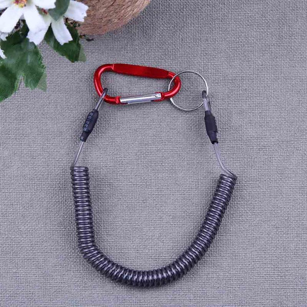 top popular Fishing Lanyards Boating Ropes Coiled Fish Missed Rope Fishing Pole Rod Protective Steel Rope Line Fishing Tackle Accessories 2019