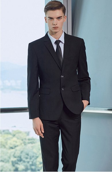 2018 Male brand Solid color men Long sleeve senior/Wedding /dress/Man Business affairs Suit Jacket+trousers S-5XL