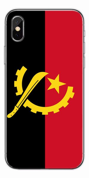 [TongTrade] Angola Flag Soft Silicone TPU Cover Case For iPhone X 8 7 6s 5s Plus Painting Galaxy S9 S8 S7 S6 Edge Plus Case