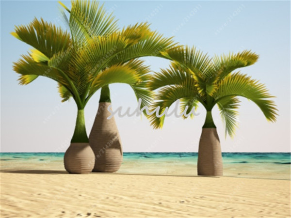 10 Pcs/Bag Bottle Palm Tree Seeds Mixed Exotic Plants Bonsai Tree Tropical Ornamental Flower Evergreen Plant Pot For Home & Garden Fresh Air