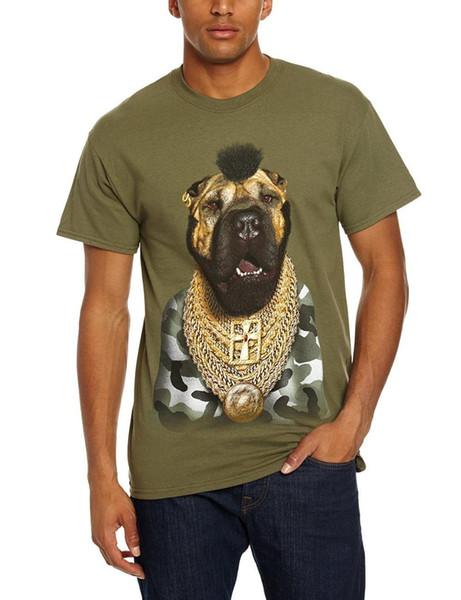 O-Boyun T Gömlek Erkek Evcil Rock Aptal Resmi erkek Yeşil Küçük T-Shirt Yeni 2018 Erkekler T-Shirt Moda Üstleri Erkek Tshirt Erkekler
