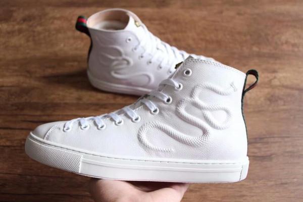 Compre 2018 Descuento Promociones Diseñador De Cuero Para Hombre Mujer Zapatos Casuales Blancos Zapatillas De Deporte Al Por Mayor Diseñador De