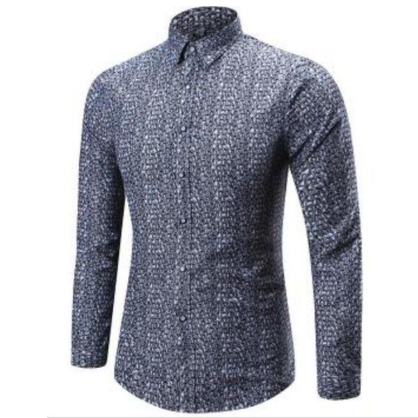 T Bird Shirt Men Plaid Long Sleeves Printed Shirts Brand Men S Casual Dress Shirt Camisa Masculina Male Fashion Slim Fit Shirt Cotton