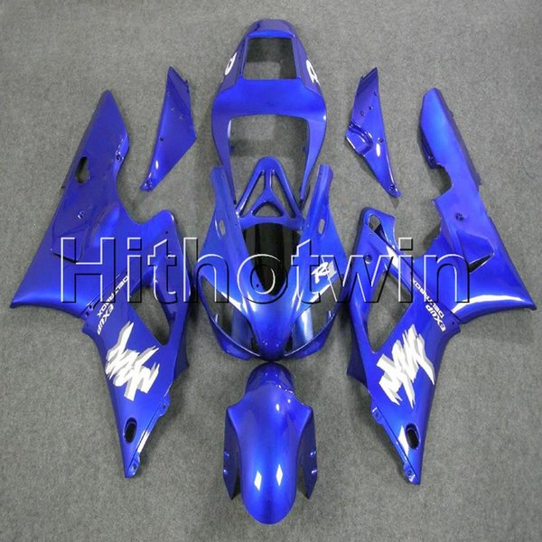 23colors+8Gifts blue bodywork motorcycle cover for Yamaha YZF-R1 98 99 YZFR1 1998 1999 ABS Plastic Fairing