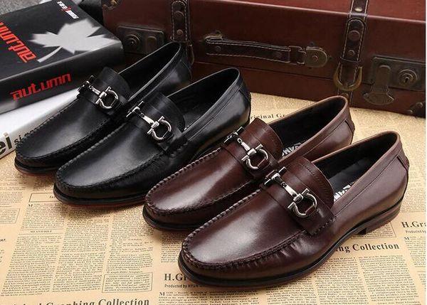 hommes chaussures en cuir véritable luxe mocassins à la main glisser sur italien marque designer robe habillée chaussures grande taille38- 45h52