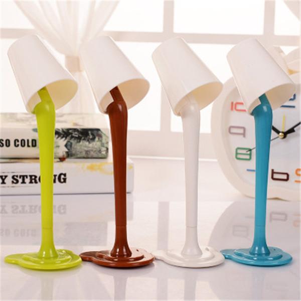 Hot Creative desk lamp dual purpose ballpoint pen cute little night light modeling plastic fun student pen color random H206