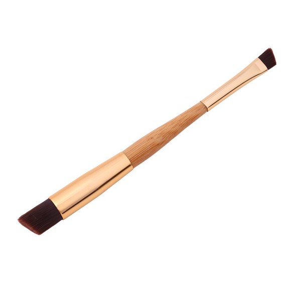 Pro Makeup Foundation Brushes Blending Powder Contour Concealer Blush brush bamboo handle double head
