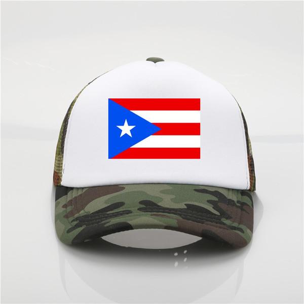 Puerto Rico drapeau logo casquette de baseball patriotique chapeau sport football pom-pom girl Cap 9 couleur chapeau de soleil jeunesse hip hop chapeau