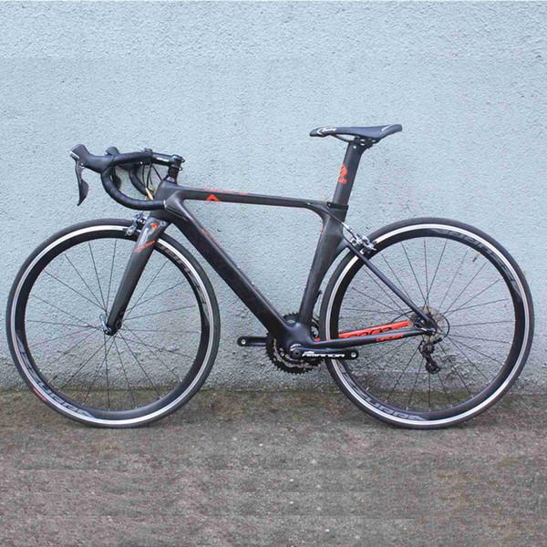 Bicicleta completa road 2018 GIRDER bicicleta de velocidad Toray t800 XXS / XS / S / M / L 22 velocidades con shimano 4700 5800 bicicleta completa carretera de carbono