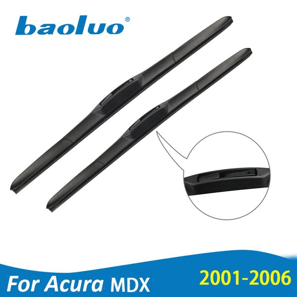 "BAOLUO Wiper Blades For For ACURA MDX 24""&21"" 2001 2002 2003 2004 2005 2006 Rubber Windscreen Wipers Auto Accessories"