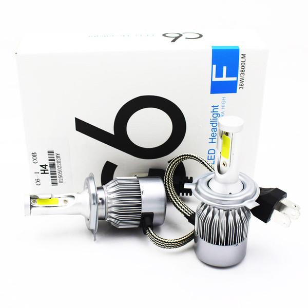 top popular headlight bulbs car 8000ml h7 led headlight cree led light h4 hi lo light h11 h9 h1 h3 hb3 hb4 9005 9006 72w dc 12v Car Styling 2019