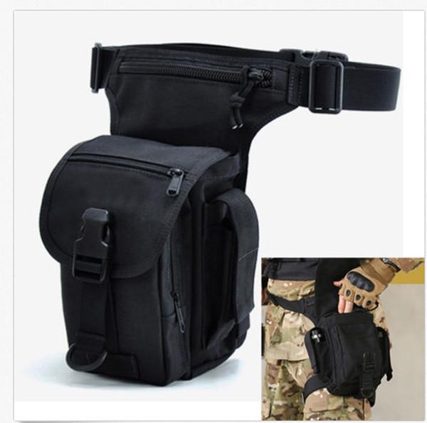 Men Nylon Military Messenger Shoulder Fanny Pack Waist Leg Bag Motorcycle Riding Pack Fashion Waist Bag Sport Pack