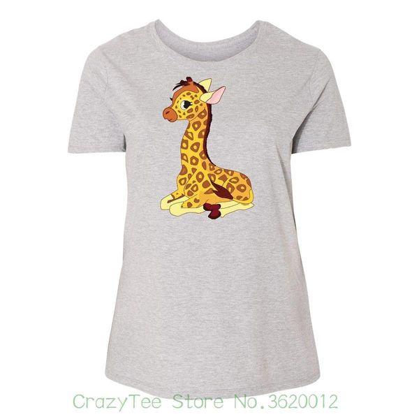Women's Tee Giraffe Women's Plus Size T-shirt Cute Animal Funny Just My Clothing Funny Brand Short T Shirt