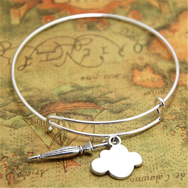 12pcs/lot Umbrella bracelet Cloud Charm bangles adjustable Rain Weather Clouds jewelry