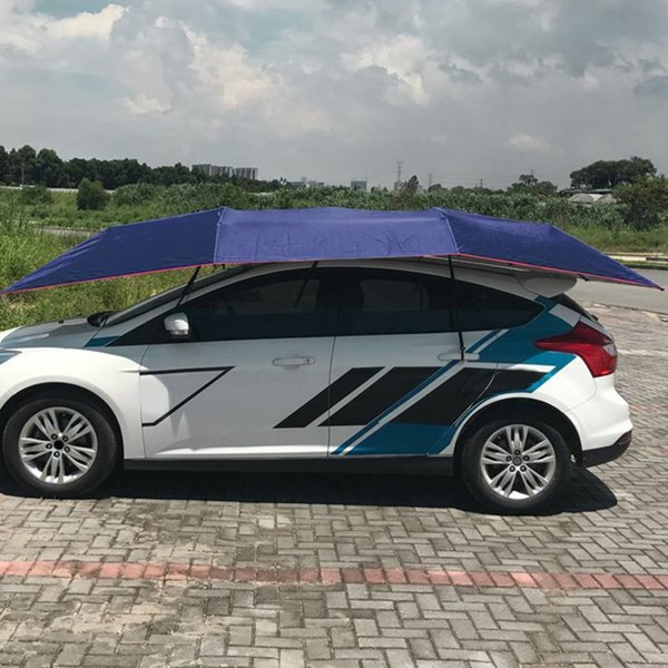 Semi-automatic Awning Tent Car Cover Outdoor Waterproof Folded Portable Car Canopy Cover Anti-UV Sun Shelter Roof Tent 2018