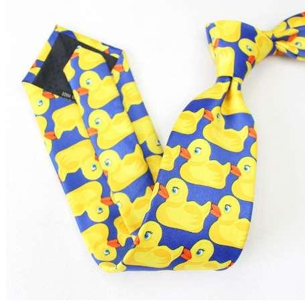 The Big 8 cm Yellow Rubber Ducky Ties For Men Same Style From How I Met Your Mother Barney's Neck tie Brand Gravata Cravat