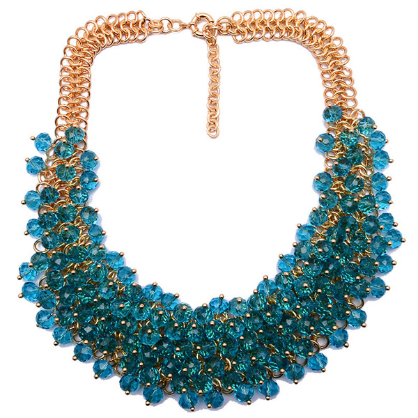 High Quality New Fashion Necklace XG134 Collar Bib Necklaces & Pendants Chunky Crystal Statement Necklace For Women And Girl