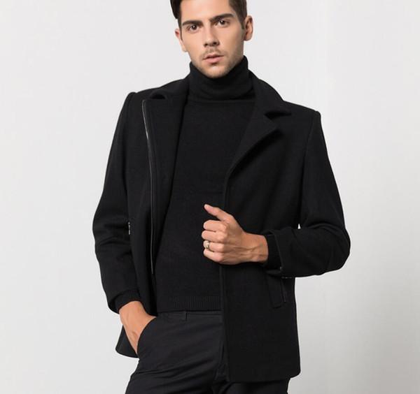 M-XXXL 2018 новый мужской бизнес случайные шерстяные пальто GD волосы стилист длинные разделе шерстяные пальто мужской одежды плюс размер