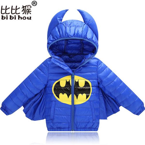 2018 Kids Winter Down Jacket per Boys Girls Character Halloween Christmas snowsuit Cappotto casual con cappuccio Cappotto per bambini