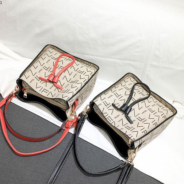Luxury Brand Hand Bag Woman Messenger Bags Lady Bucket Women Fashion Leather Shoulder Bag Red Black Girl Crossbody Bags