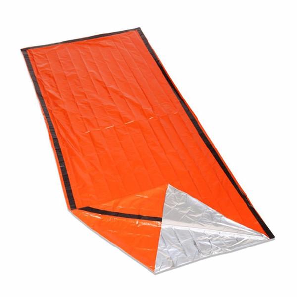 2017 Sacos de dormir al aire libre Sacos de dormir portátiles de emergencia Saco de polietileno ligero para acampar Viajes y senderismo
