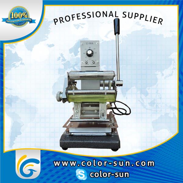 Hochwertige PVC-Karte Heißfolienprägemaschine Vergoldungspresse Maschine