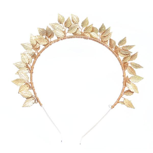 Il nuovo filo di rame brillante della lega lascia il costume fatto a mano tradizionale Accessori per la moda placcati oro Headwear