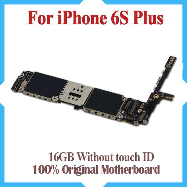Pour iPhone 6S Plus 5.5 pouces 16 Go de carte mère Usine carte mère déverrouillée sans ID tactile avec la mise à jour d'origine IOS Livraison gratuite