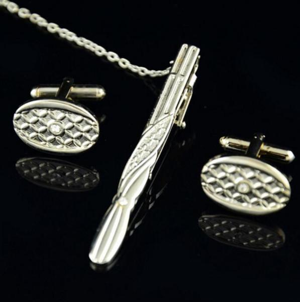 Manschettenknöpfe mit Crystal Manschettenknöpfe Krawattennadel Modeschmuck Accessoires für Männer Shirt Vatertag Geschenk