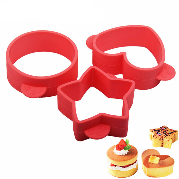 3Pcs/Set Fluffy Small Cake Mould Silicone Baking Pastry Tool Bakeware Fried Egg Cookie Mold Kitchen Gadgets Accessories Supplies