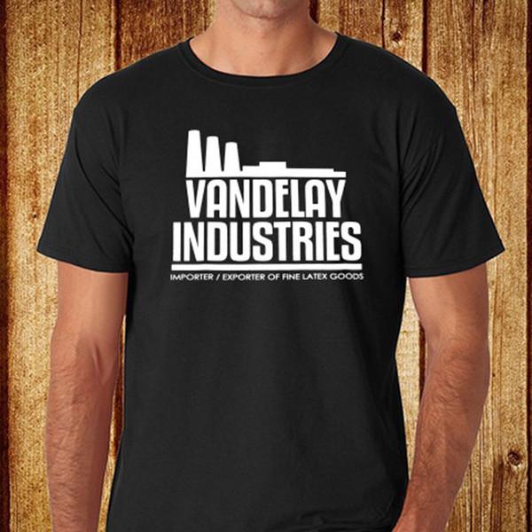 Seinfeld Vandelay Industries Logo camiseta negra para hombres, talla S - 3xl Estilo de moda de envío gratis Camiseta de alta calidad