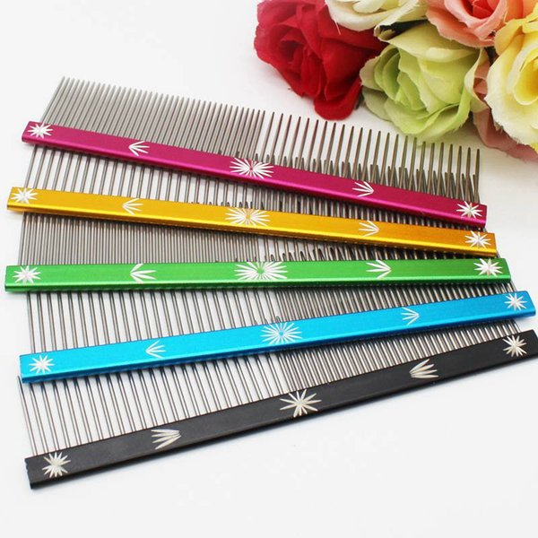 Snow Pet Dog Comb Grooming Straight Comb for Cats Hair Removal Brush Mutil-color Stainless Steel Beauty Comb 20cm 25cm Available