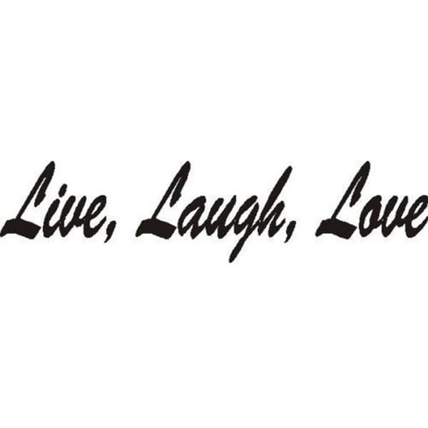 La vida se ríe y dice una palabra Etiqueta de auto Vinilo Empaquetado de auto Personalidad Cita