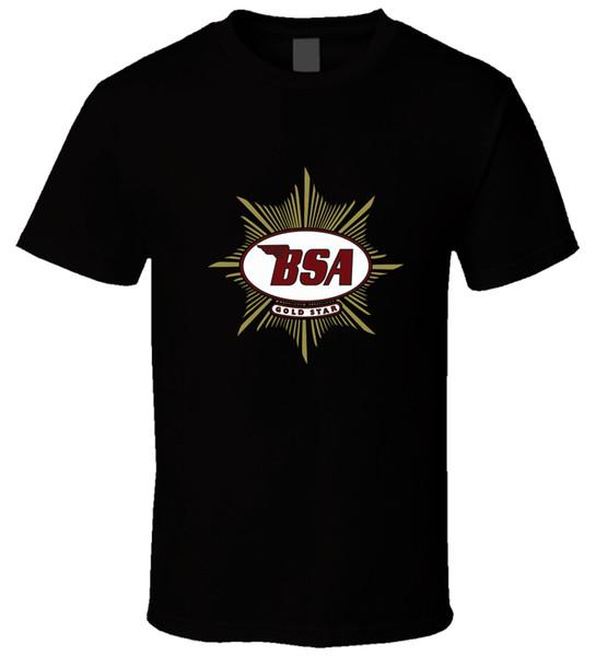 BSA Motociclisti 4 Uomini Maglietta top Hip Hop Maglietta corta Manica corta Estate maschile 100% Cotone Manica corta Divertente 100% cotone casual