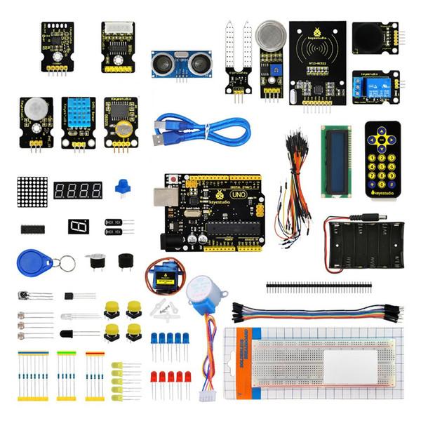 Compre Keyestudio Ks0077 Beginner Learning Assembly Kit Para Arduino Con Uno R3 Incluye Una Caja De Plástico Para Almacenar Módulos Y Piezas