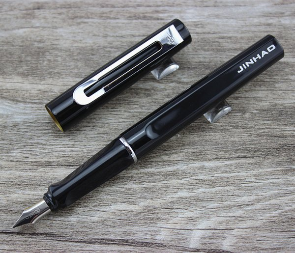 Jinhao 599 stylo à plume extra fine en platine de haute qualité avec 0.5mm Nib Livraison gratuite