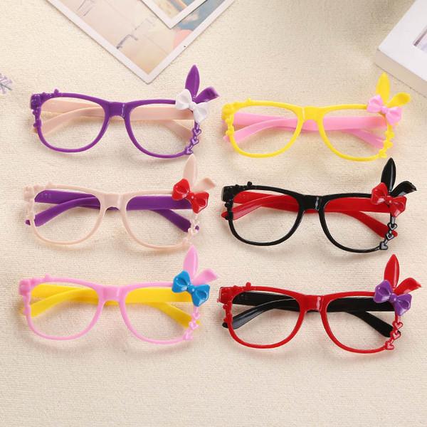 best selling Cartoon glasses children's mirror frame Korean bow rabbit decorative frames baby decorative glasses
