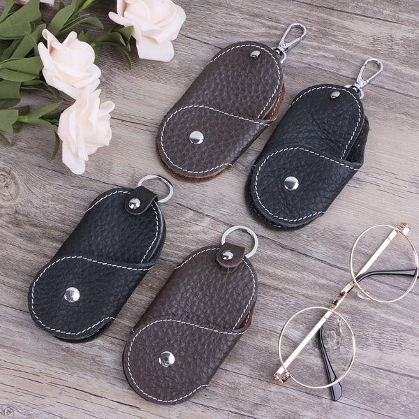 Women Men Leather Metal Car Keychain Holder Keyring Purse Bag Key Ring Keyfob fashion Leather key holder