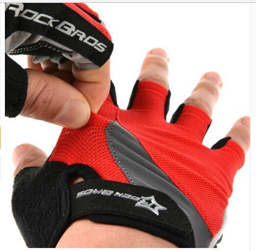 Cycling Anti slip Anti sweat Men Women Half Finger Gloves Breathable