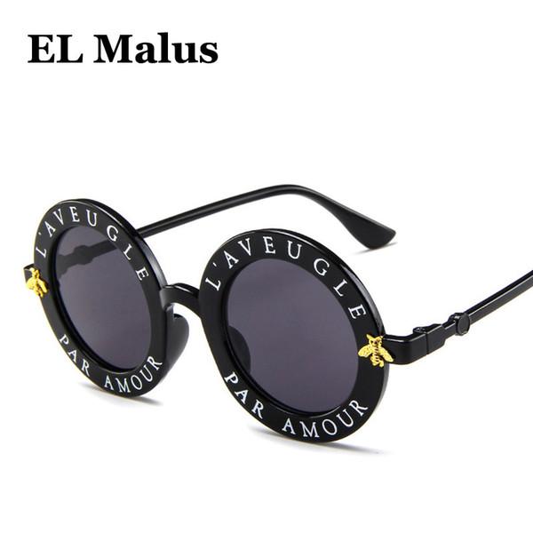 [El Malus] 2018 стимпанк ретро круглая рамка солнцезащитные очки сексуальные дамы старинные пчелы солнцезащитные очки Женщины Марка дизайнер моды женский SG057
