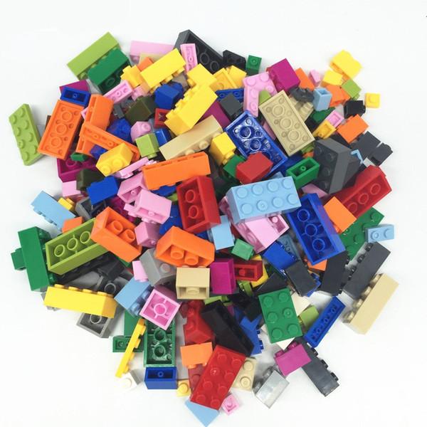 Wholesale-1000pcs Tasarımcı DIY Hediye Oyuncak Yapı Taşları Tuğla Oluşturucu Set Eğitim Montaj Oyuncaklar INGly Tuğla Ile Uyumlu
