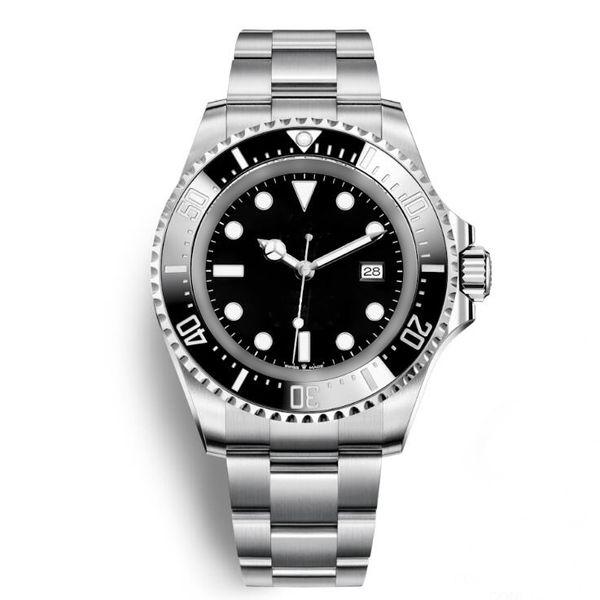 New Mens Watch Deep Ceramic Bezel SEA-Dweller 126660 44 mm Stanless Steel Glide Lock Clasp Automatic Mechanical mens Watches Chrono Reloj