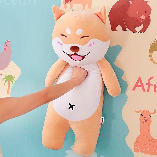 Cute dog Plush toys Stuffed Soft Animals Cartoon Bulldog Husky Shiba inu Pug Pillow doll for Kids girls birthday Christmas Gift