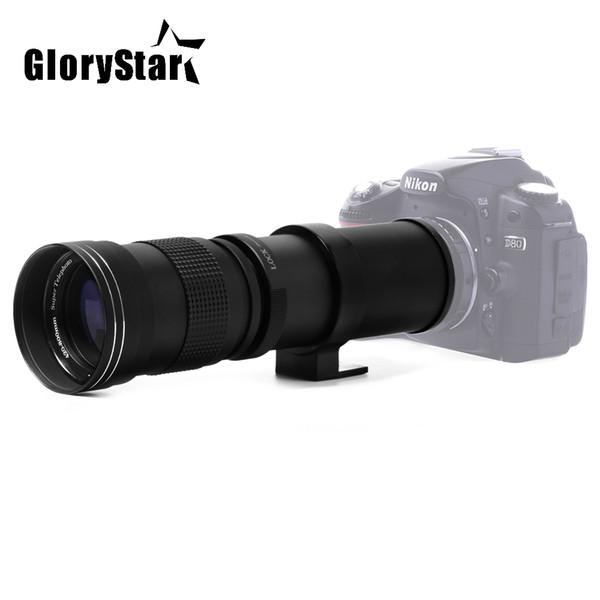 Glory Star 420-800mm F / 8.3-16 Super Teleobjektiv manueller Zoomobjektiv für Canon Nikon Sony Pentax DSLR-Kamera
